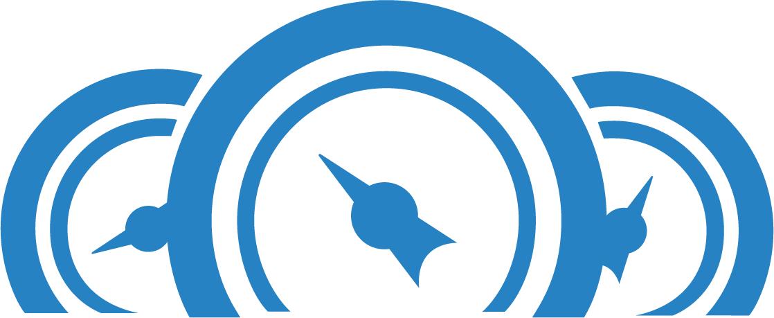 Blaues Icon für das Website-Barometer