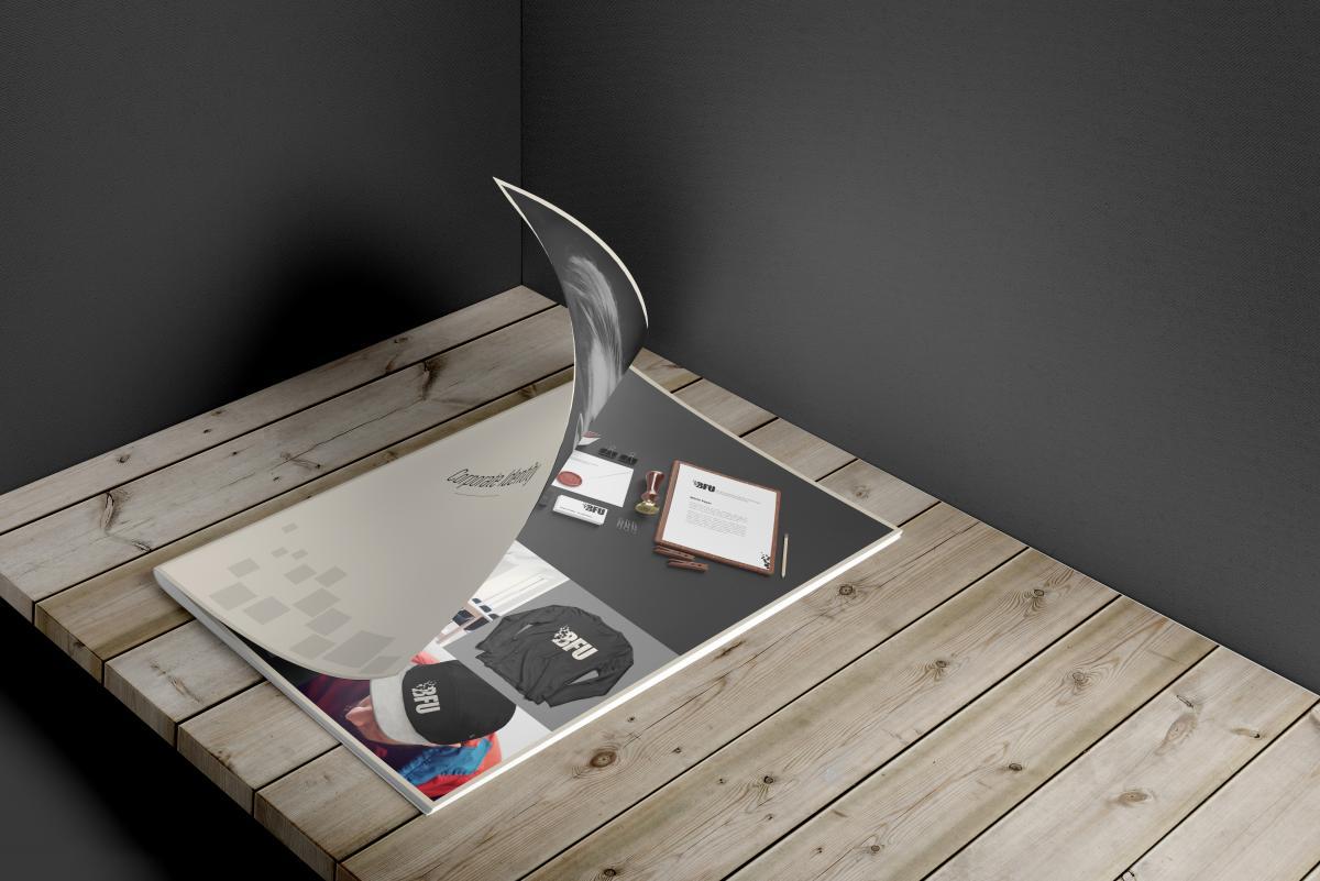 Deckblatt und erste Seite des Corporate Identity Dokuments der BFU GmbH