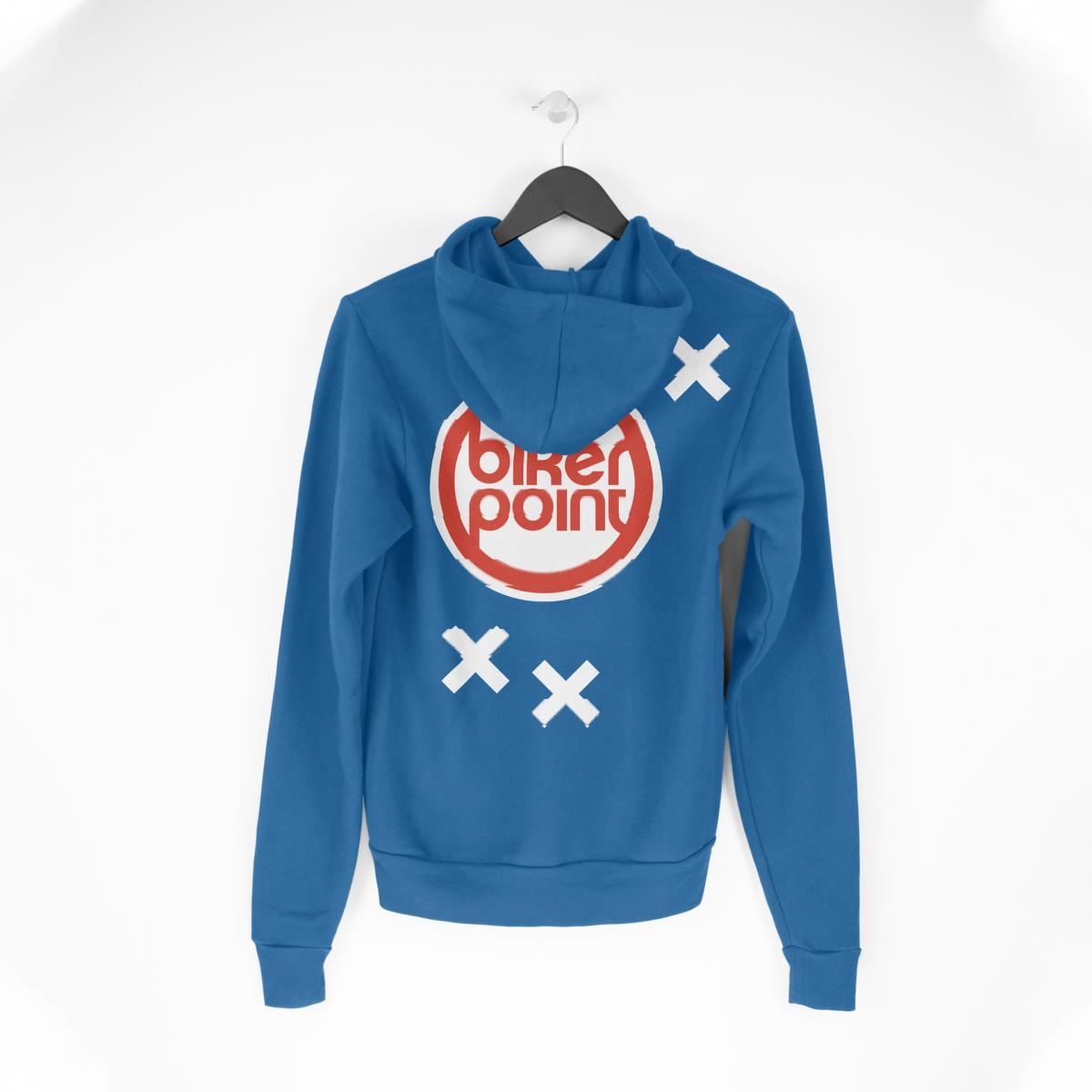 Sweatshirt mit Bikerpoint-Logo und Bikerpoint-Stilelementen