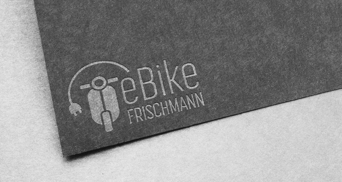 Prägung mit Logo von eBike Frischmann