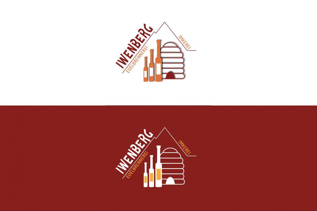 Die helle und die dunkle Variante des Logos der Iwenberg-Brennerei